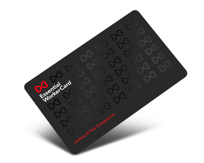 An example of our Keyworker Card